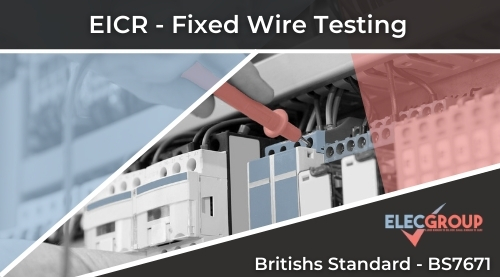 Operator testing fixed wire eicr