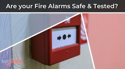 Red and White fire alarm