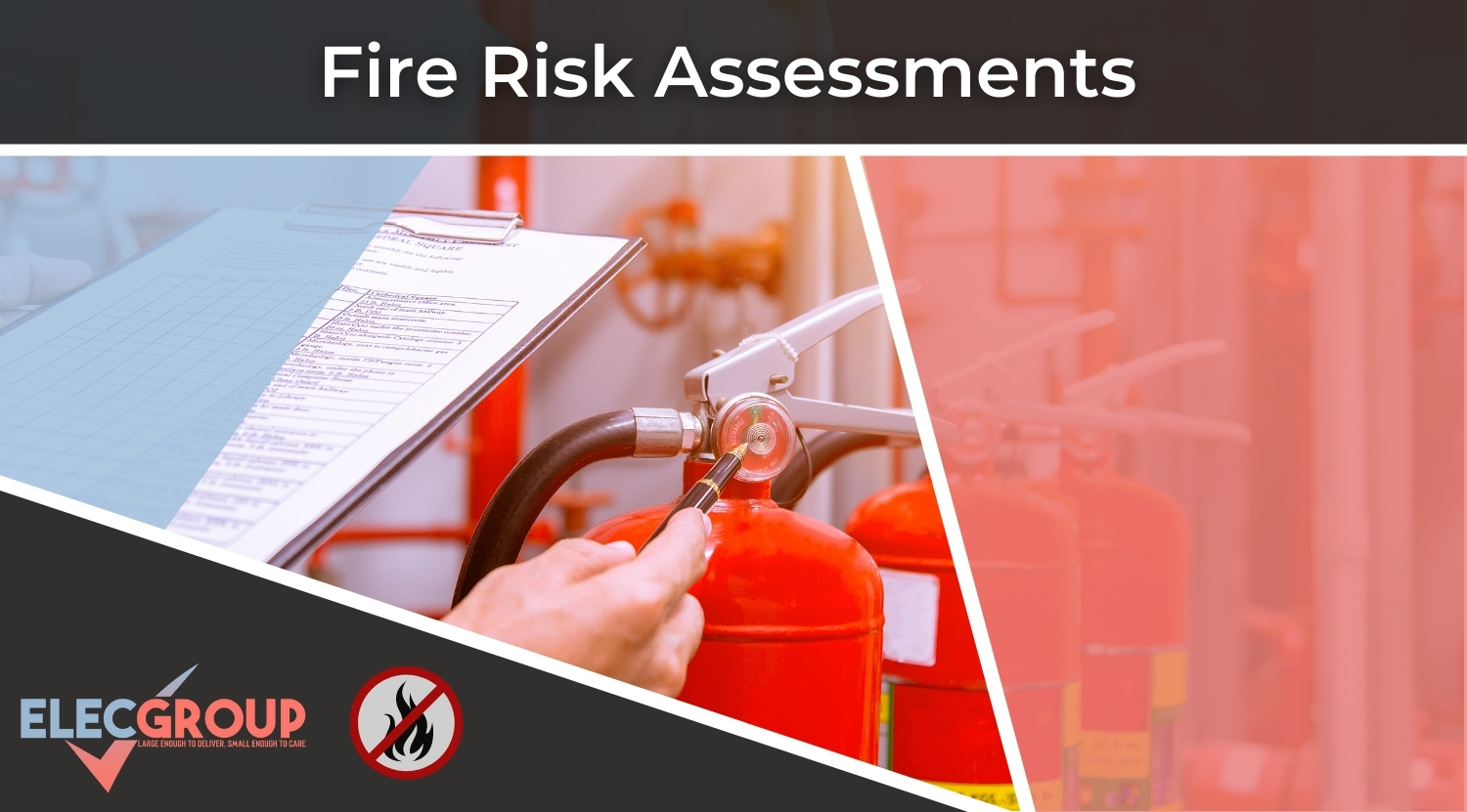 Manager performing a fire risk assessment